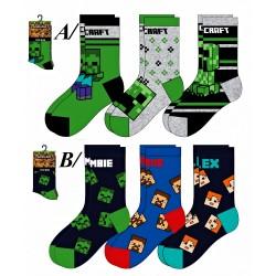 Ponožky  -Minecraft-3 pack